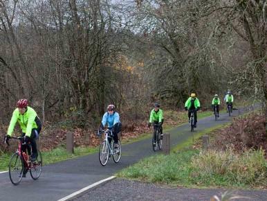 Bicycling Banks Vernonia State Trail