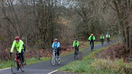 Bicycling Banks Vernonia State Trail