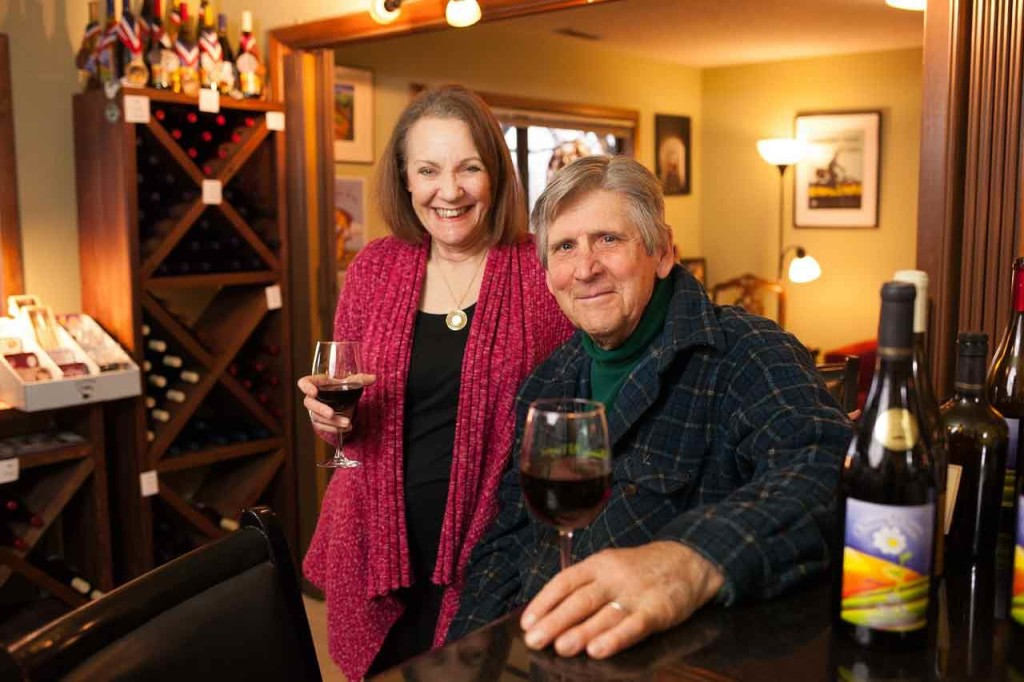 Jim and Holly Witte of A Blooming Hill Vineyard in Cornelius, OR in the Tualatin Valley
