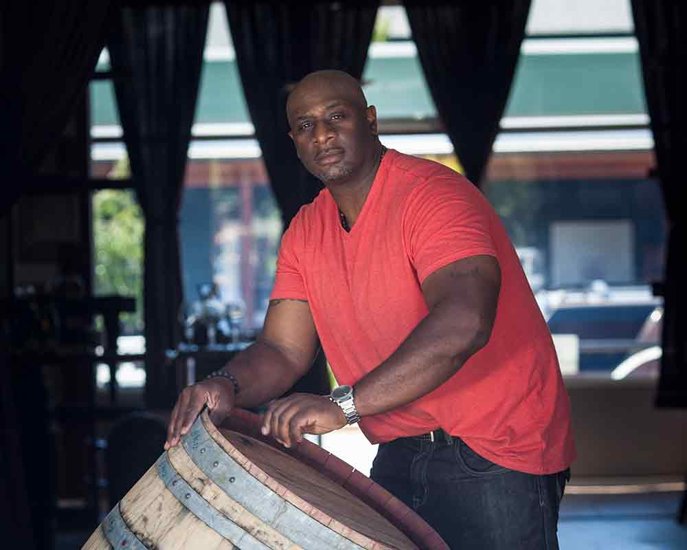 Bertony Faustin of Abbey Creek Winery in North Plains, OR in the Tualatin Valley