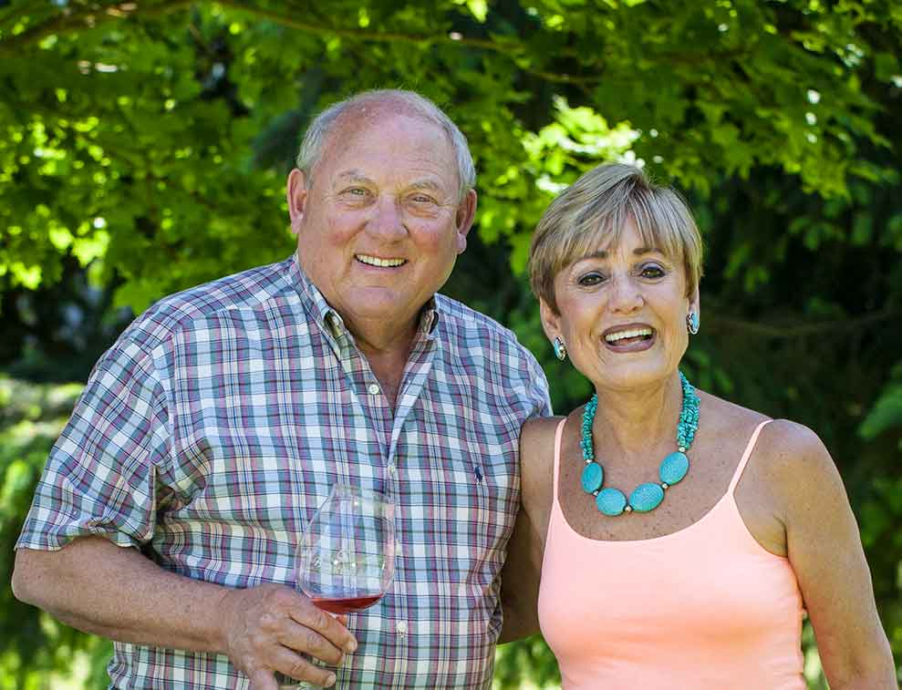 Bill and Sheila Blakeslee of Blakeslee Vineyards in Sherwood, OR