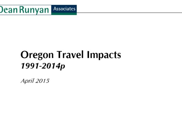Cover Travel Oregon Travel Impacts 2014