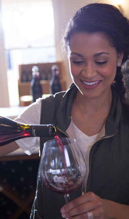 David Hill Wine Pour
