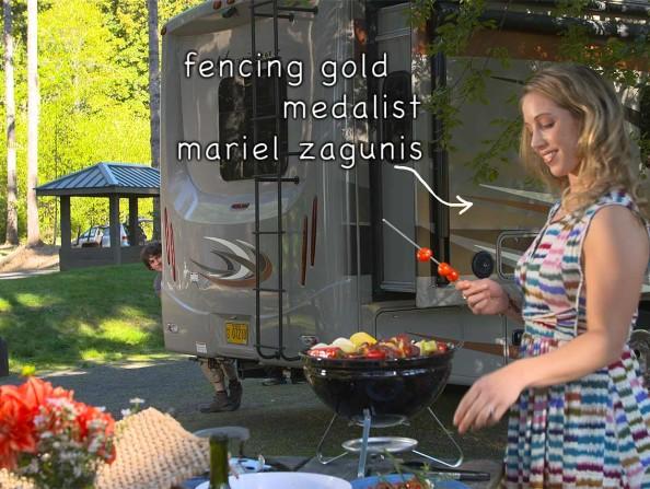Fencing Mariel Zagunis Still