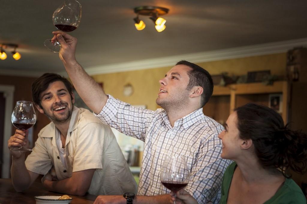 Wine tasting at Plum Hill