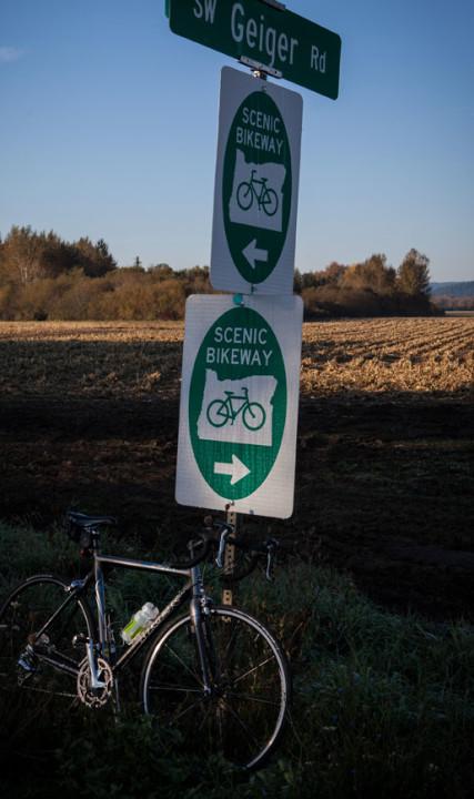 bike on Scenic bikeway