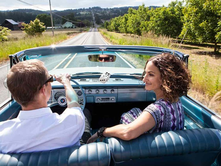 Driving Scenic Tour Route