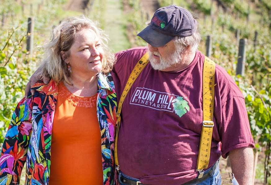 RJ and Juanita Lint of Plum Hill Vineyards, Gaston, OR in the Tualatin Valley