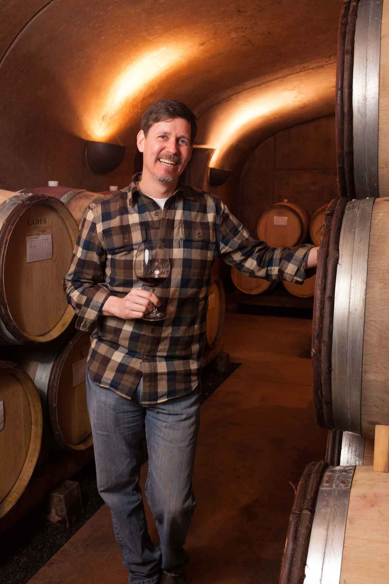 Tom Fitzpatrick of Alloro Vineyard, Sherwood, OR in the Tualatin Valley