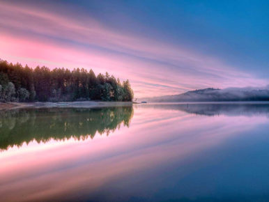 Hagg Lake Winter Sunrise